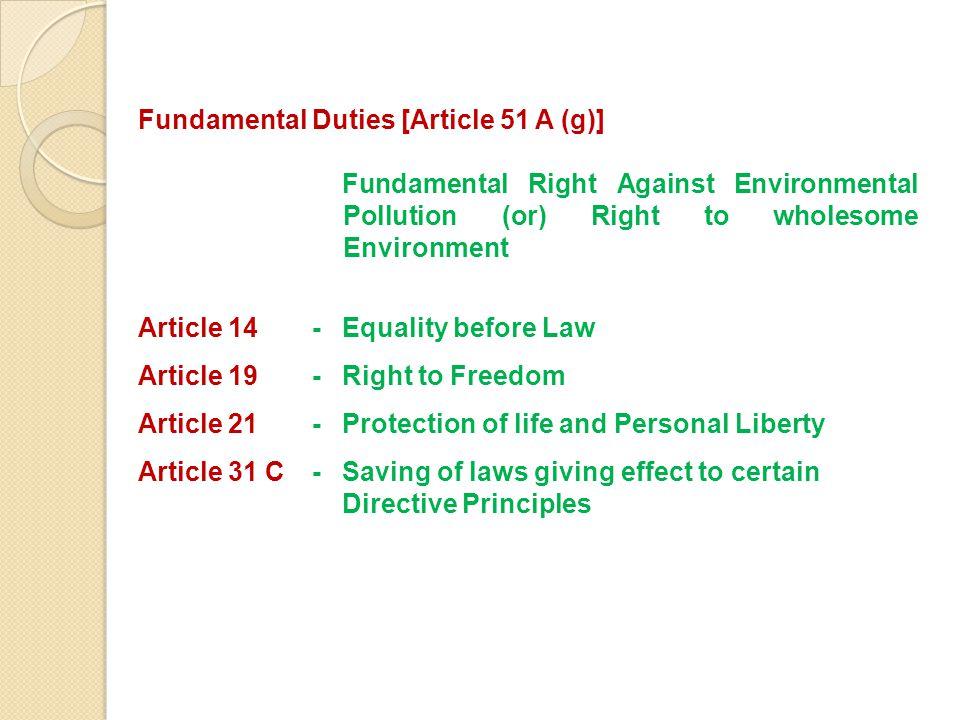 Fundamental Duties [Article 51 A (g)]